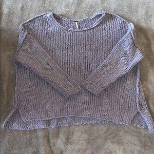 Free People Oversized Teddy Sweater